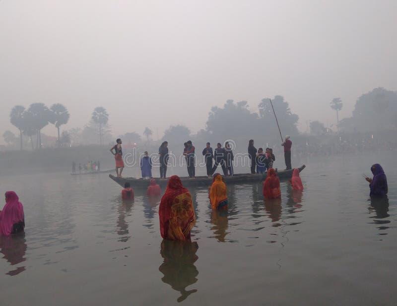 Puja de Chhath photos libres de droits