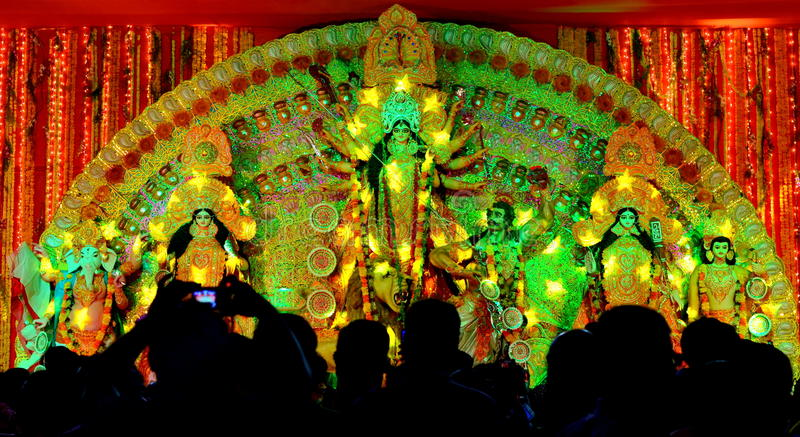 Puja de Durga image libre de droits