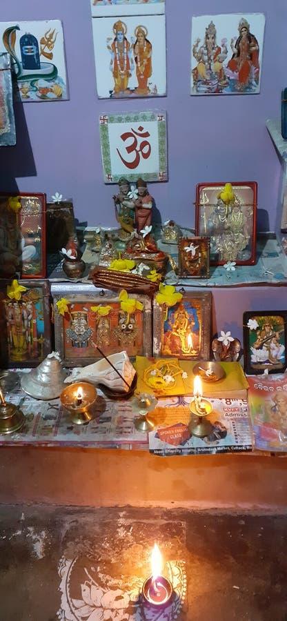 Puja ghar image stock