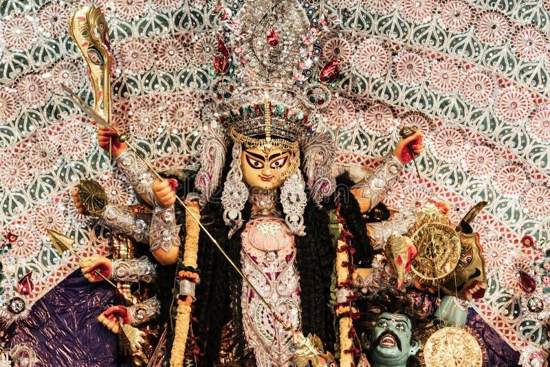 Puja Navrata, Bengala Occidental, la India de Durga Idol - de Durga fotos de archivo