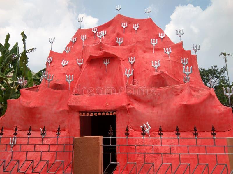 Puja Pandal i västra Bengal India 2019 royaltyfri bild