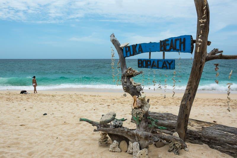 Puka Beach, Boracay, Filipinas imagens de stock
