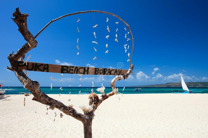 Puka Shell beach. At Southern part of Boracay island, Philippines royalty free stock photo