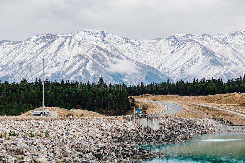 Pukak de lac au Nouvelle-Zélande photo stock