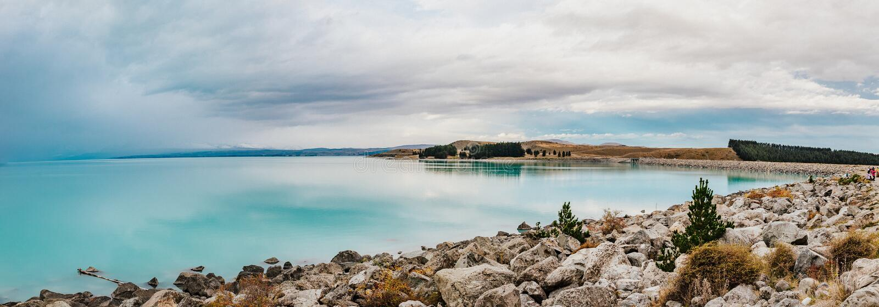 Pukak de lac au Nouvelle-Zélande photos stock