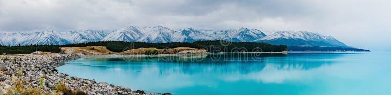 Pukak de lac au Nouvelle-Zélande photos libres de droits