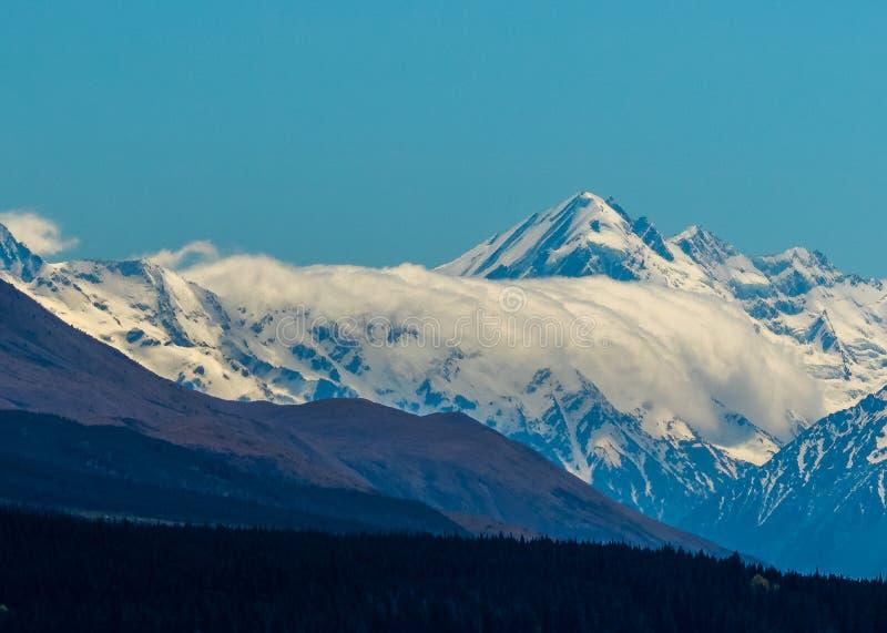 Pukaki glaciär fotografering för bildbyråer