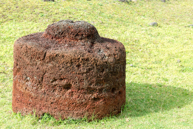 Pukao on Easter Island stock images
