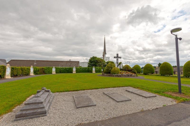 Puknięcie, Mayo, Irlandia Irlandia ` s Krajowa Mariańska świątynia w Co Mayo, odwiedzający obok nad 1 5 milionów ludzi każdego ro fotografia stock