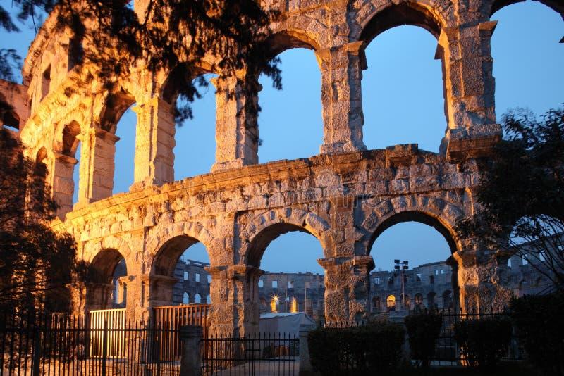 pula Ρωμαίος αμφιθεάτρων στοκ φωτογραφία