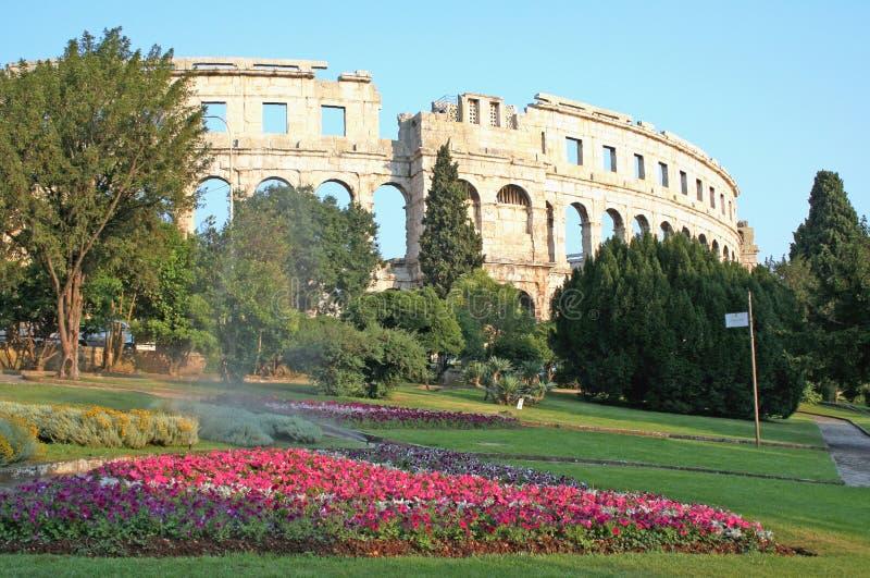 pula Ρωμαίος της Κροατίας χώρων στοκ φωτογραφία