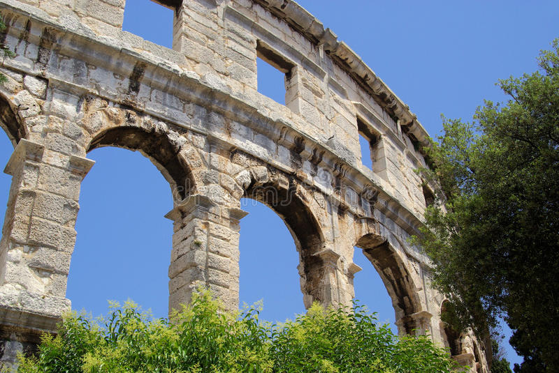 Download Pula stock image. Image of culture, pula, blue, amphitheater - 13223953