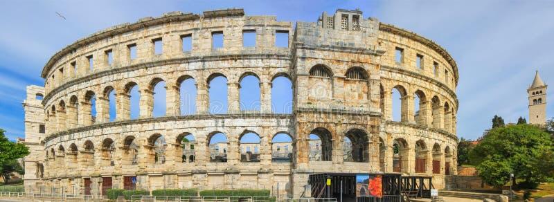 Pula, Chorwacja - Romański amphitheatre zdjęcia stock