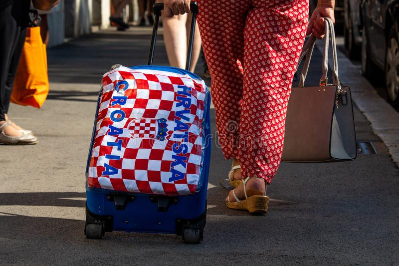Croatian fans following the World Cup Final royalty free stock images