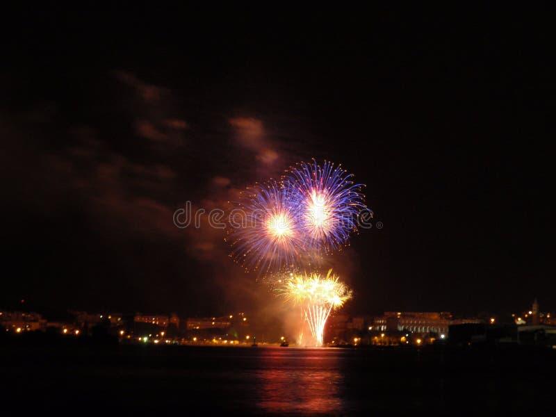Pula fireworks royalty free stock image