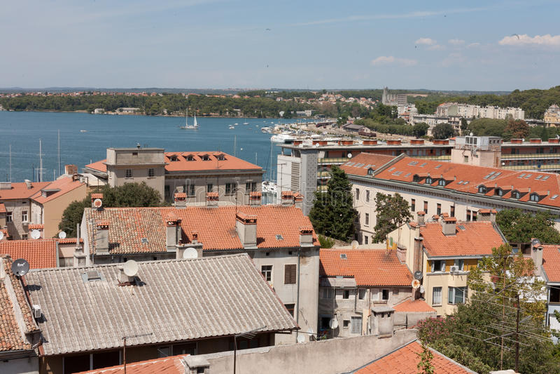 PULA nel Croatia fotografie stock libere da diritti