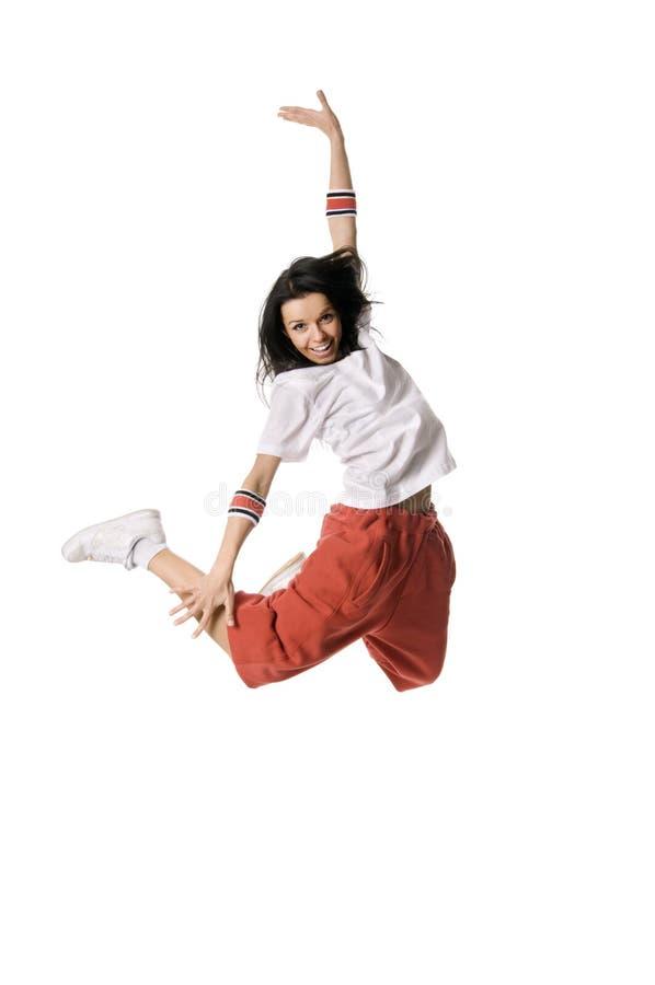 Pulando o breakdancer imagens de stock royalty free