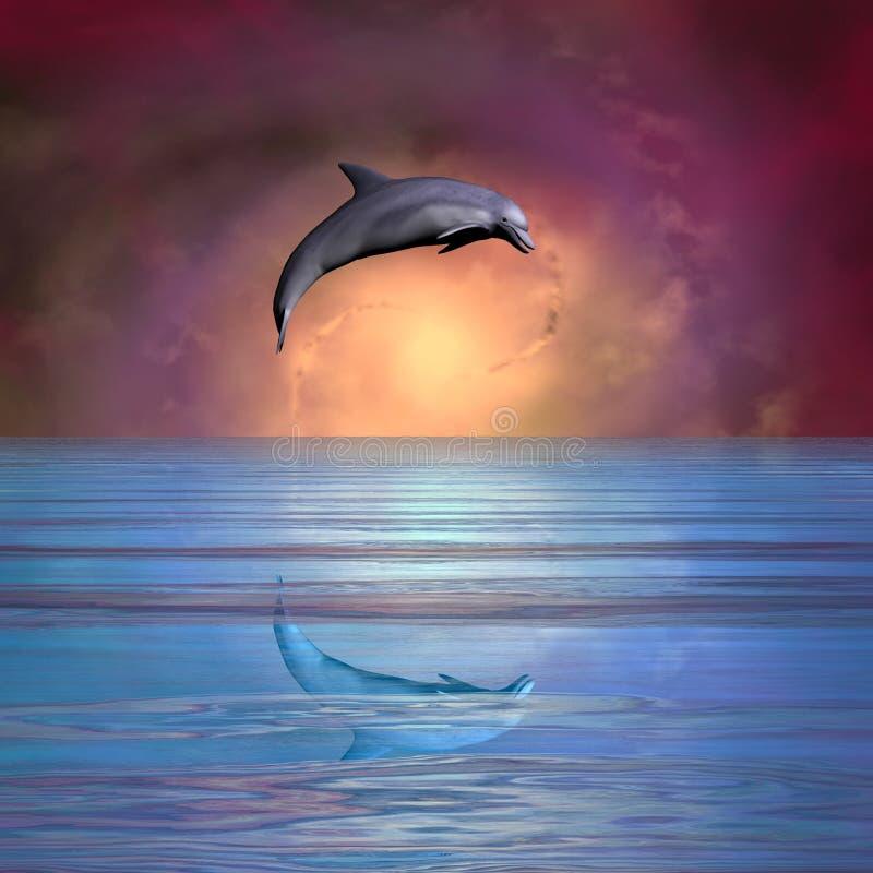 Pulando o golfinho ilustração royalty free