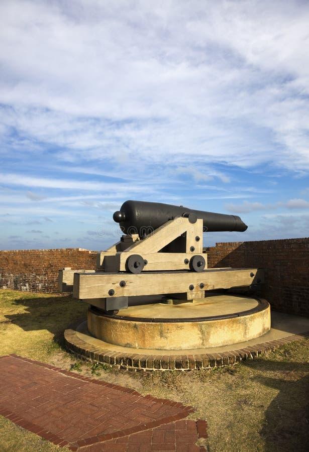 pulaski οχυρών πυροβόλων στοκ εικόνες