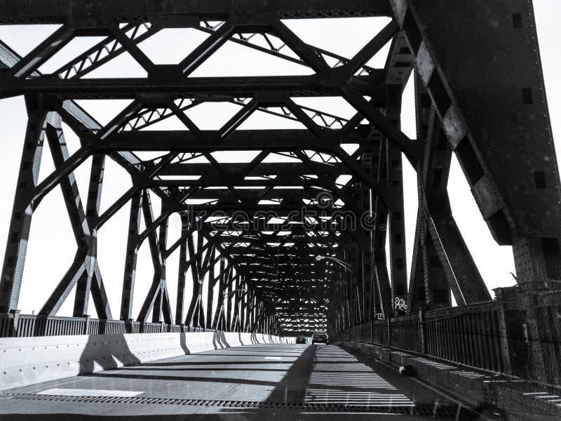 Pulaski Skyway桥梁新泽西 图库摄影