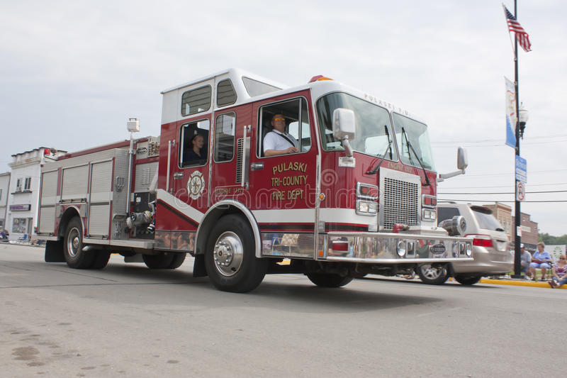 Pulaski Tri County Engine 1112 Firetruck royalty free stock images