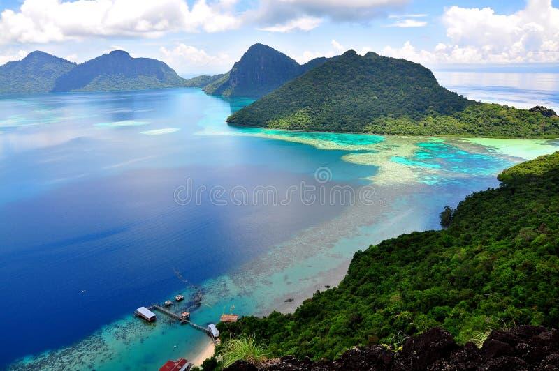 Pulau Bohey Dulang, Sabah imagens de stock