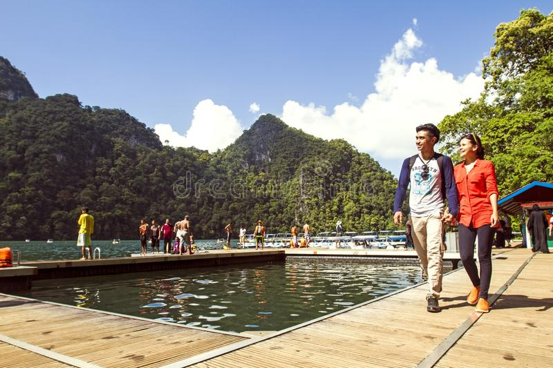 TASIK DAYANG BUNTING. Pulau Dayang Bunting, Langkawi's second largest uninhabited island, is easily accessible via a 15-minute boat ride from Kuah Jetty royalty free stock photo