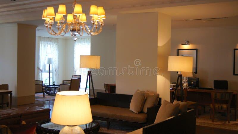 PULAU LANGKAWI, MALEISIË - 4 APRIL 2015: Binnen het DANNA-luxehotel op Langkawi-eiland stock fotografie