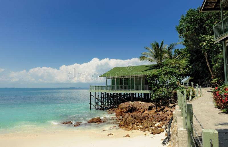 Rawa Island. Is a coral island in Mersing District, Johor, Malaysia. Nearby islands include Harimau and Mensirip. `Rawa` is the local term for white doves royalty free stock photo