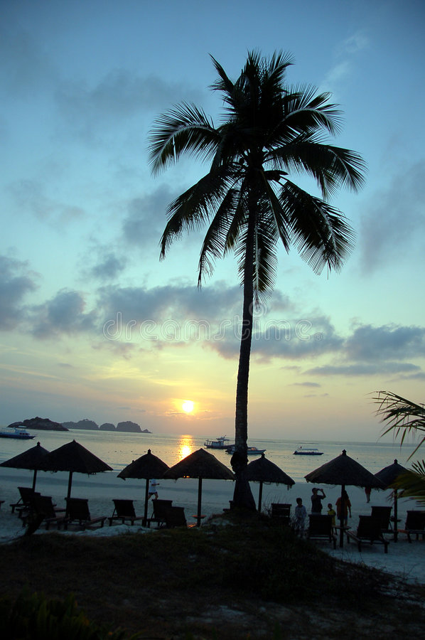 Download Pulau Redang Sun Rise stock photo. Image of sunshine, private - 810248