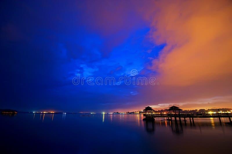 pulausingapore ubin arkivbilder