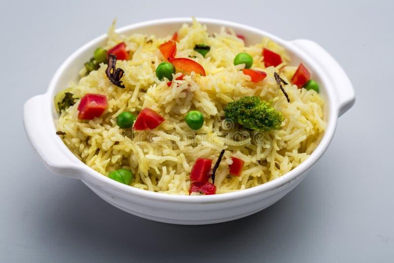Pulav di biryani o della verdura di Veg o riso cucinato fotografie stock