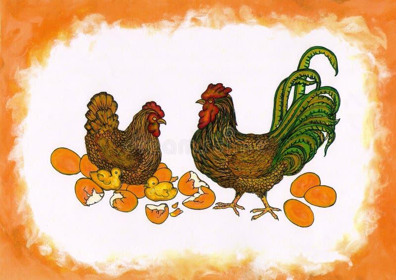 Pulcini dell'uovo N fotografia stock