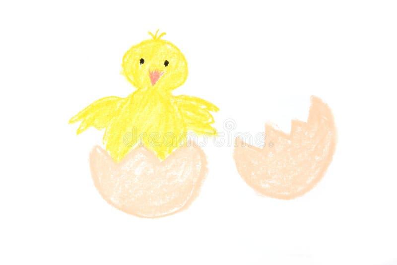 Pulcino appena nato di Pasqua verniciato immagini stock