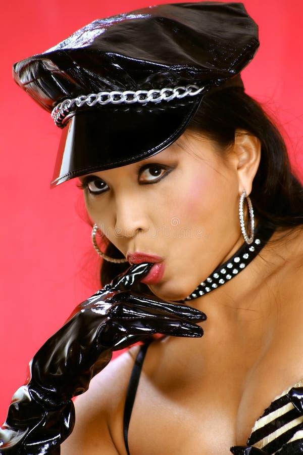 Download Pulcino del motociclista immagine stock. Immagine di guanti - 200163