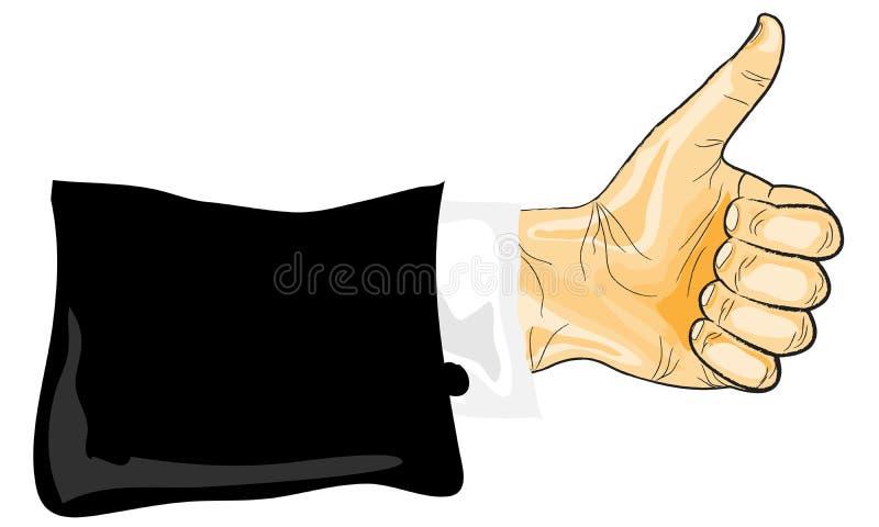 Pulgar de la mano libre illustration
