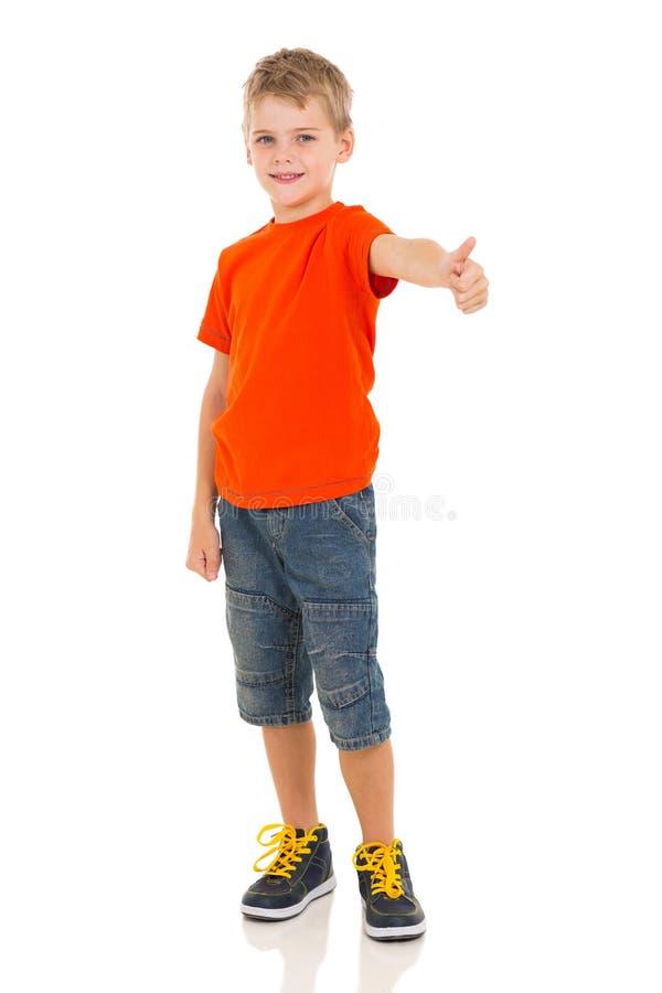 Pulgar del muchacho para arriba fotografía de archivo libre de regalías