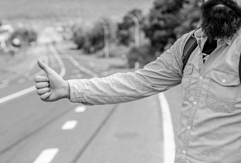 Autostopista Adolescente Blanco Negro