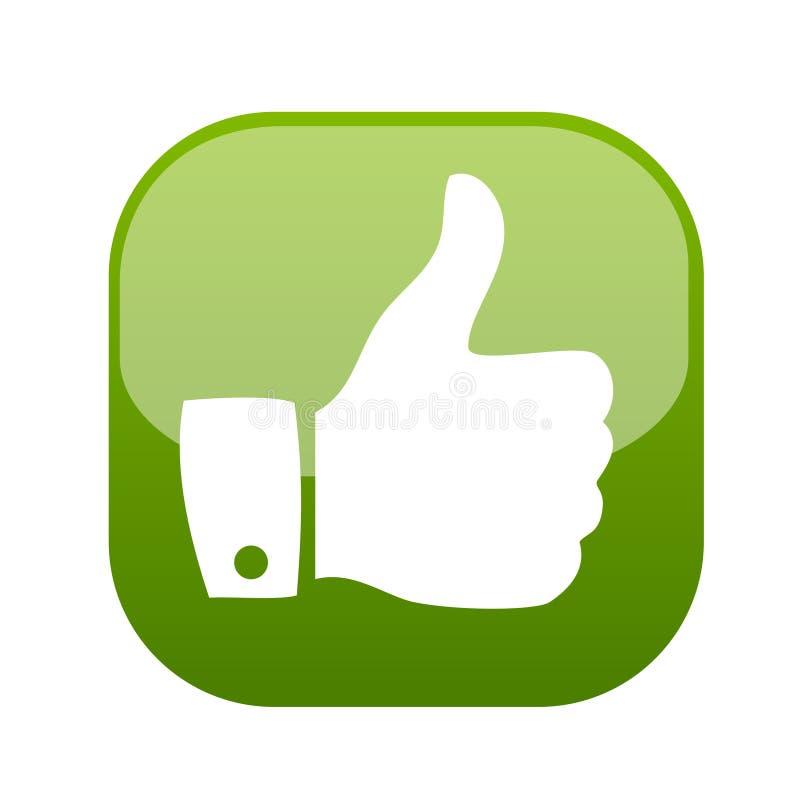 Pulgar encima del vector del icono del gesto stock de ilustración