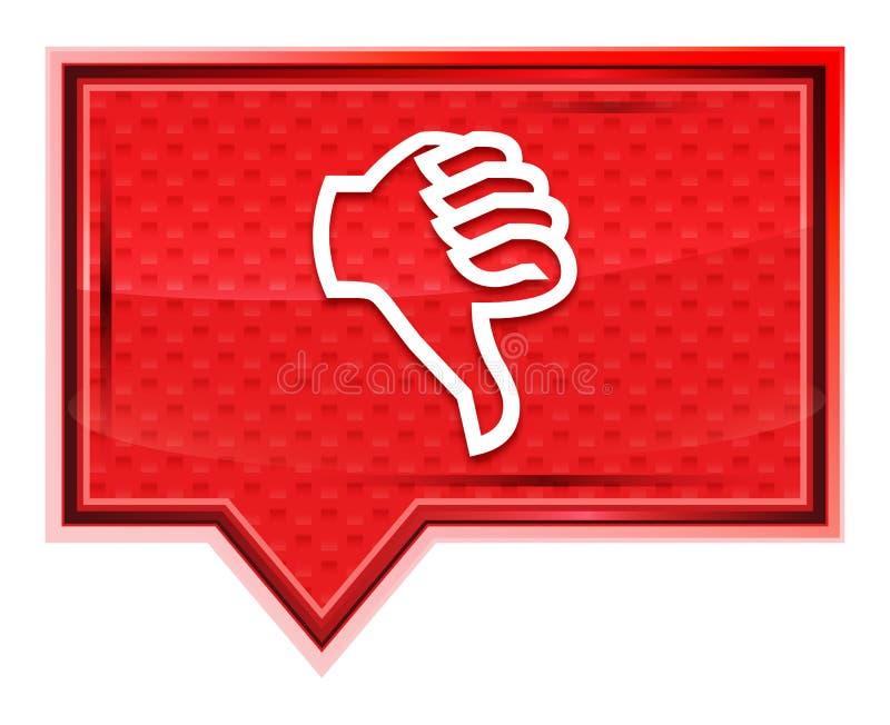 Pulgares abajo del botón rosado color de rosa brumoso de la bandera del icono libre illustration