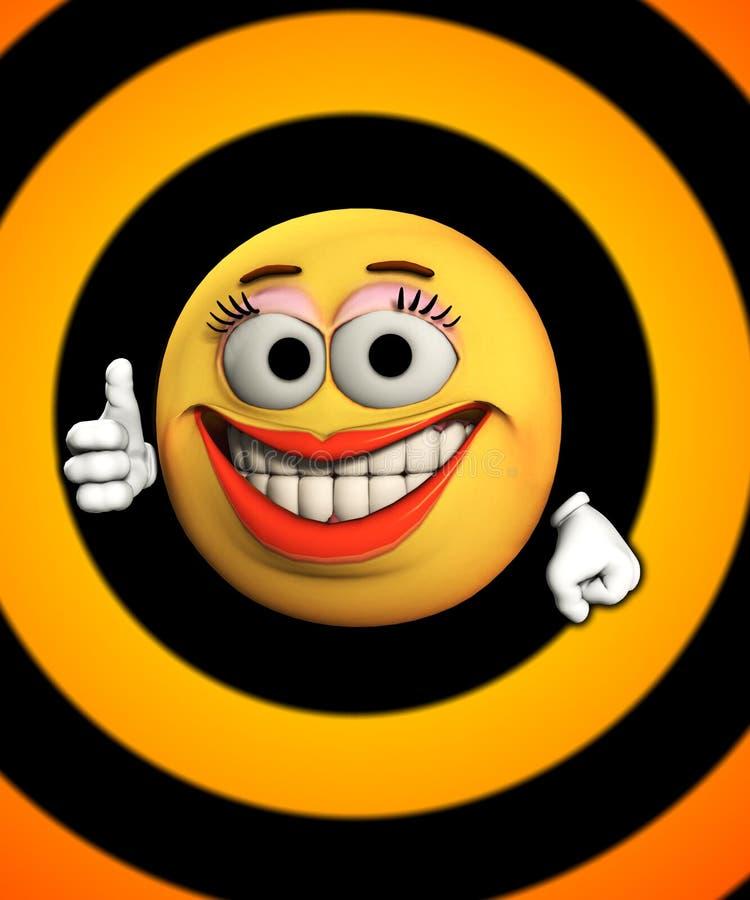 Pulgares para arriba con sonrisas stock de ilustración