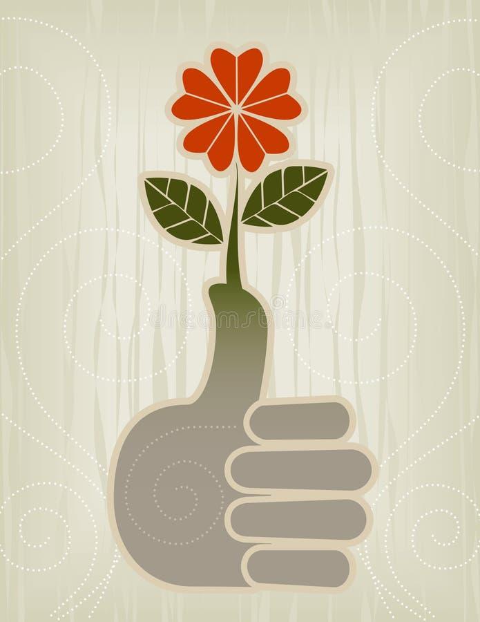 Pulgares para arriba | Icono del pulgar verde ilustración del vector