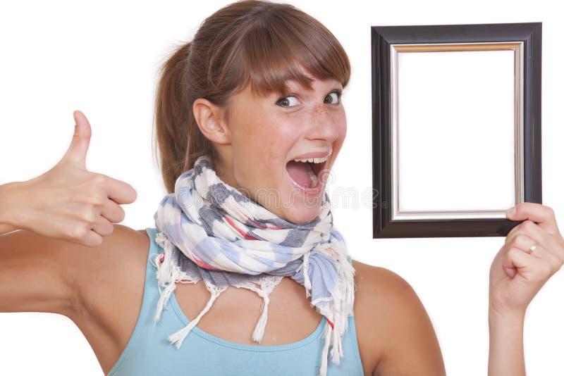 Pulgares para arriba para el cuadro foto de archivo libre de regalías