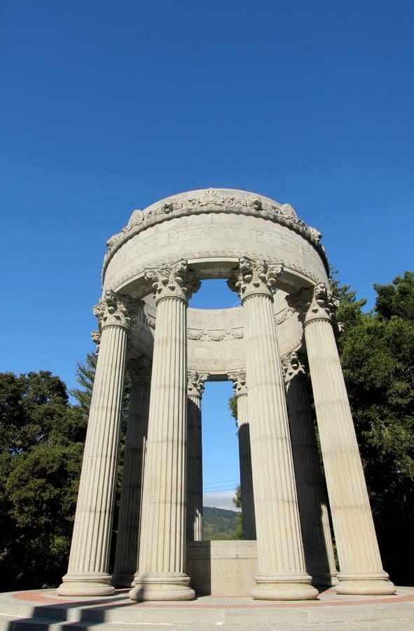 Pulgas水寺庙,加利福尼亚 库存照片