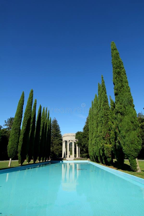 Pulgas vattentempel, Kalifornien royaltyfria bilder