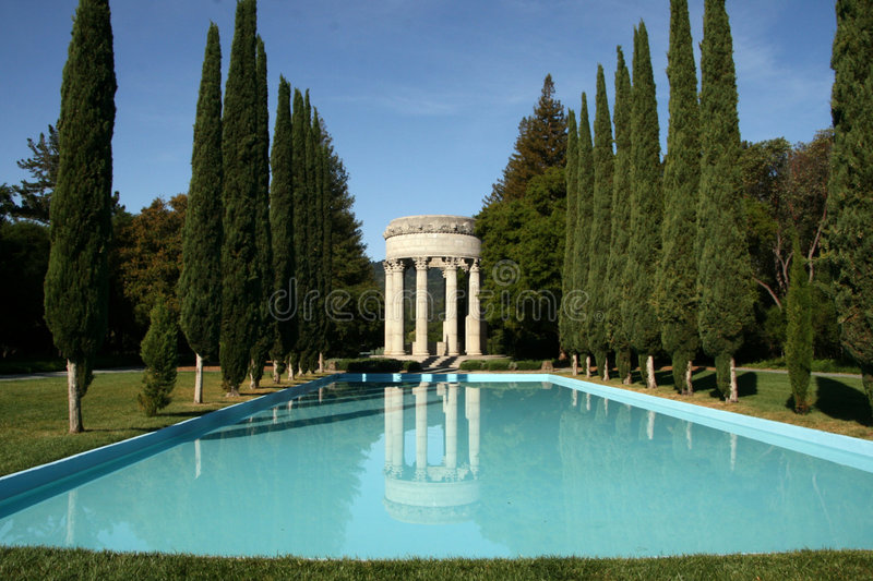 Download Pulgas Water Temple stock photo. Image of reflection, park - 9080278