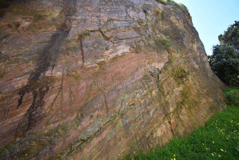 Pulió naturalmente la roca pulida en Corona Heights Park, San Francisco 2 imagenes de archivo