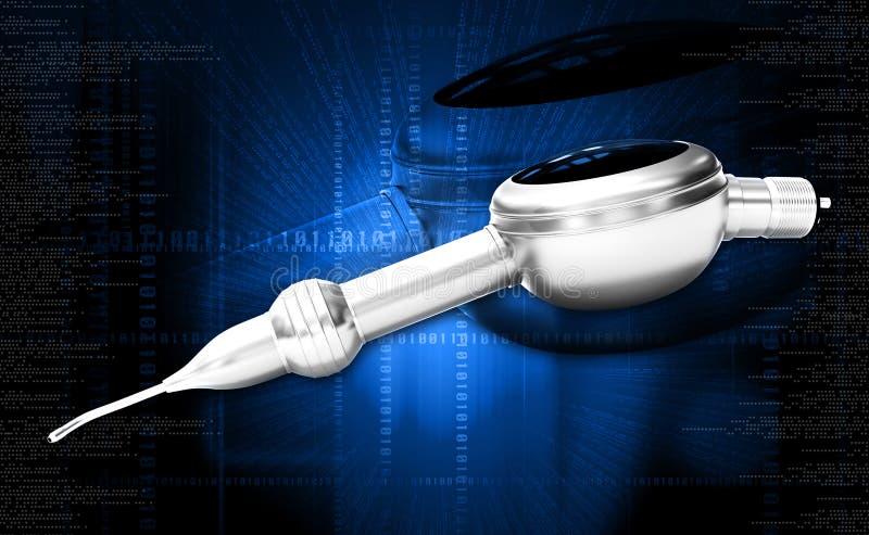 Pulidor dental Handpiece del aire imagenes de archivo