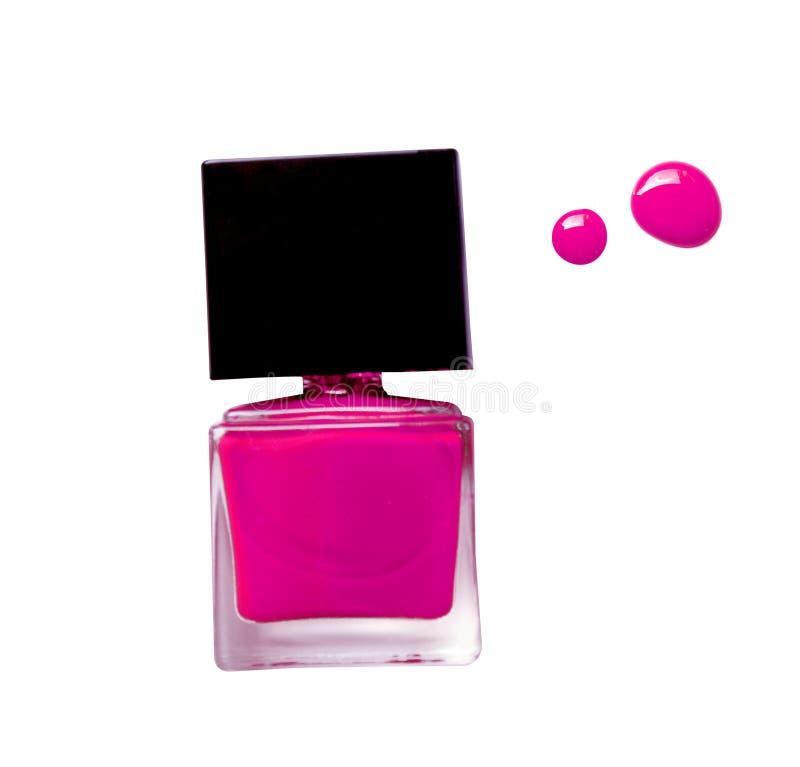 Pulimento de clavo rosado aislado en el fondo blanco foto de archivo libre de regalías