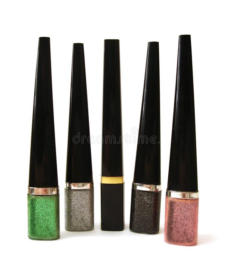 Pulimento o lápiz labial coloreado del naill fotos de archivo libres de regalías